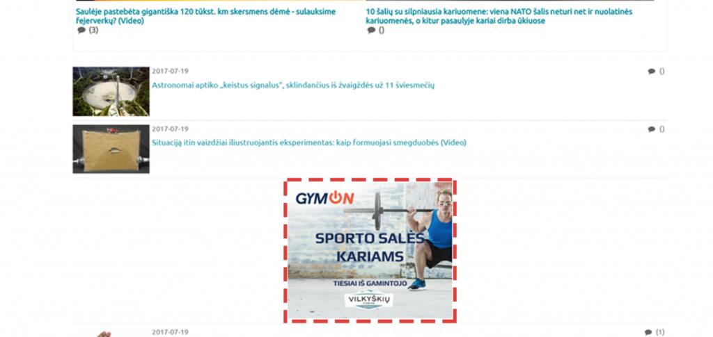AB Vilkyškių Pieninė, GYM ON (Agency: UAB Open Agency)